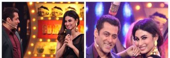 Salman Khan & Mouni roy in Big Boss Stage